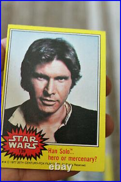 104 Stars Wars 1977 Trading Cards 5 Sticker Cards Red, Yellow, Green Some Duplic