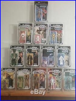 13 x GW Acrylic Display Cases Black Series 40th Anniversary Carded (ADC-011)
