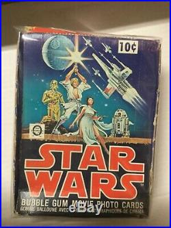 1977 O-pee-chee rare Star Wars series 1 movie cards empty display box