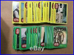 1977 Star Wars 1-5 Complete Card/Stickers Sets (330/55)- High Grade