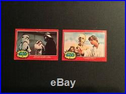 1977 Stars wars 20th century fox red bilingual lot of 2 cards #67-75 5$
