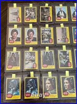 1977 Topps Star Wars Card Lot 112 Cards from all 5 Series PSA Ready PSA 8 or 9