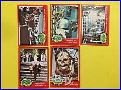 1977 Topps Stars Wars, 5 Different cards, #84, 87, 108, 116, 128