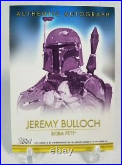 2001 Star Wars Topps Evolution Jeremy Bulloch Autograph Card 1st Auto Card