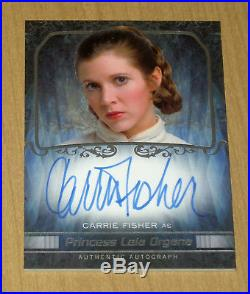 2015 Topps Star Wars Masterwork on-card autograph Carrie Fisher as Princess Leia