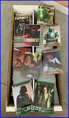 2015 Topps Stars Wars Chrome Perspectives 900+ Card Base & Insert Lot Collection