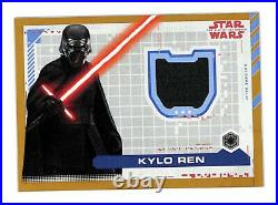 2019 Topps Star Wars The Rise Of Skywalker Kylo Ren 8/25 gold costume relic card