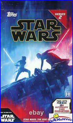 2020 Topps Star Wars Rise of Skywalker SERIES 2 HOBBY Box-192 Cards+2 HITS! Rare