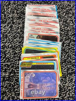 500+ Vintage 1977 Topps Star Wars Trading Cards Lot Blue, Red, Yellow Duplicates
