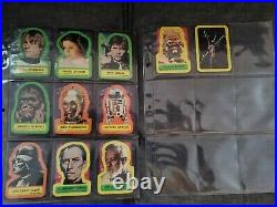 AWESOME 1977 STAR WARS Trading Cards Complete Set with Stickers, Series 1 BLUE