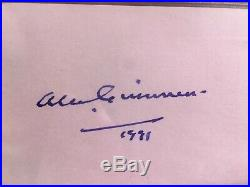 Alec Guinness Star Wars Authentic Signed 3x5 Index Card Autographed BAS Slabbed