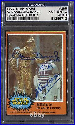 Anthony Daniels Kenny Baker Signed 1977 Star Wars Card PSA/DNA Auto Autograph