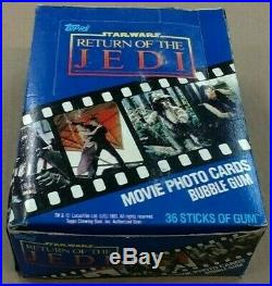 Box Of 1983 Stars Wars Return Of The Jedi Movie Cards, 36 Packs, 10 Cards Per Pack