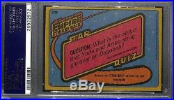 CARRIE FISHER Princess Leia 1980 TOPPS ESB SIGNED AUTOGRAPHED AUTO CARD PSA/DNA