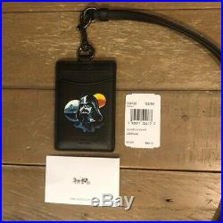 COACH Special Edition Star Wars Black LANYARD ID Card Badge Holder Case Wallet