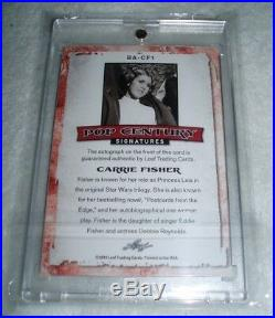 Carrie Fisher Star Wars 2014 Leaf Pop Century Signatures Auto Autograph Card