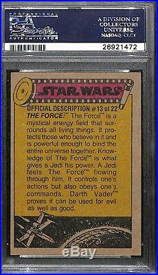 Dave Prowse Darth Vader 1977 Topps Star Wars Signed Autograph Auto Card Psa/dna