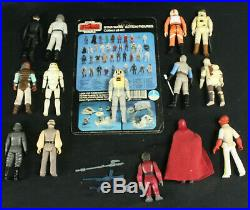 Lot of 14 VTG Star Wars Figures 1977-1983 withSome Weapons, Card ALL 100% Original