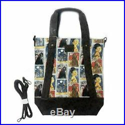 Loungefly Star Wars Cards Princess Leia Chewbacca Crossbody Tote Bag STTB0163