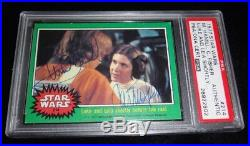 Mark Hamill & Carrie Fisher 1977 Topps Star Wars Signed Autographed Card Psa/dna