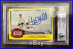 Mark Hamill Star Wars Signed TOPPS 1977 Vintage Trading Card. BAS. Not OPX