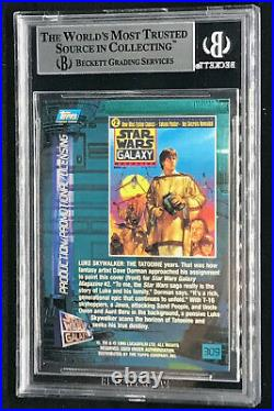 Mark Hamill & Uncle Owen Topps Star Wars Card Signed Autographed Bas Beckett Bgs
