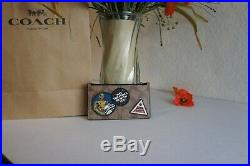 NWT COACH F89056 Star Wars Signature Patches Zip Card Case Tan $150