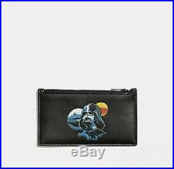 NWT COACH F89058 STAR WARS X COACH ZIP CARD CASE WITH DARTH VADER Limited