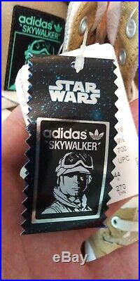 New Adidas Originals Star Wars Luke Skywalker Hoth S. W. Size 10 with card & bubble