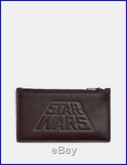 New Limited Edition Star Wars X Coach Zip Card Case Motif