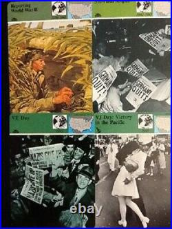 Panarizon Cards Wars AbroadStars and Stripes, WWII, VE Day & VJ Day. 4 Cards