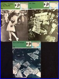 Panarizon Cards Wars Abroad VE Day, VJ Day & Stars and Stripes. 3 Cards