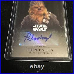 Peter Mayhew Chewbacca Auto Singed Topps Chrome Card Star Wars Autograph