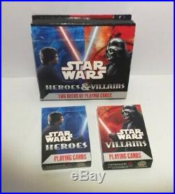 STARS WARS Heroes & Villains Playing Cards 2 Decks New