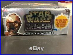 STAR WARS 1999 Topps CHROME ARCHIVES Factory Sealed Trading Card BOX 36 Packs