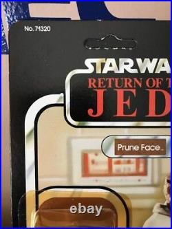 STAR WARS PRUNE FACE ROTJ 77 BACK ACTION FIGURE Factory Card COIN Offer KENNER
