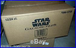 STAR WARS TOPPS GALACTIC FILES SERIES 1 TRADING CARD 12-BOX hobby sealed case