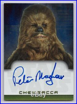 Star Wars 2001 Topps Evolution Autograph Peter Mayhew On-Card Auto Chewbacca