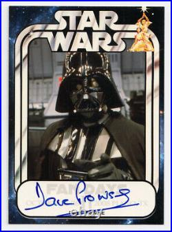 Star Wars 2008 Fan Days 2 David Prowse as Darth Vader Autograph Card Auto