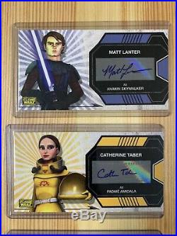 Star Wars Clone Wars Widevision Trading Cards Auto Autograph Set