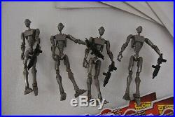 Star Wars Commando Droids Loose Lot of 4 Hasbro 2009 Clone Wars Blister Cards