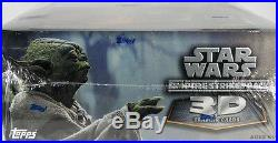 Star Wars EMPIRE STRIKES BACK 3D Trading Cards Sealed hobby BOX Topps Widevision