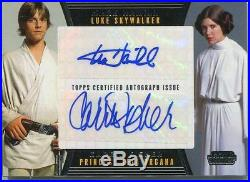 Star Wars Galactic Files 2 Dual Autograph Card Carrie Fisher / Mark Hamill