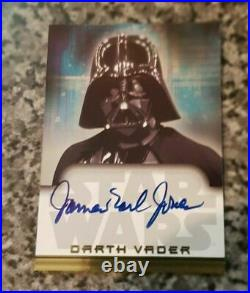 Star Wars Heritage James Earl Jones As Darth Vader Topps Autograph Auto Card