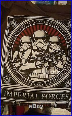 Star Wars Imperial Forces Troopers Rebels Card Tee T Shirt men's Size 2XL