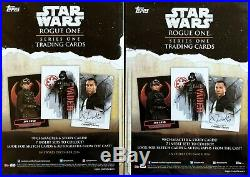Star Wars Insider Featuring The Stars Of Rogue One Exclusive Topps Trading Card