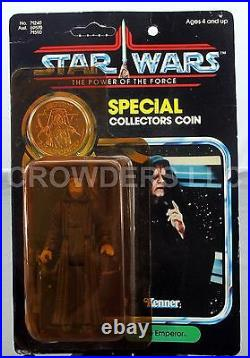 Star Wars PotF The Emperor with Special Collector's Coin Unpunched Card Kenner'84