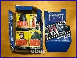 Star Wars/Return Of The Jedi Vintage 1983 Topps 15 Unopened trading cards withbox