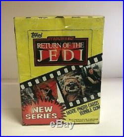 Star Wars Return of the Jedi Series 1 & 2 Movie Photo Card Boxes Topps 1983