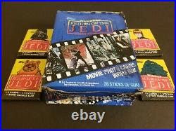 Star Wars Return of the Jedi Trading Cards Box Topps 1983 Vintage